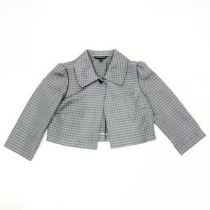 Express Design Studio Grey Dot Crop Blazer Cape